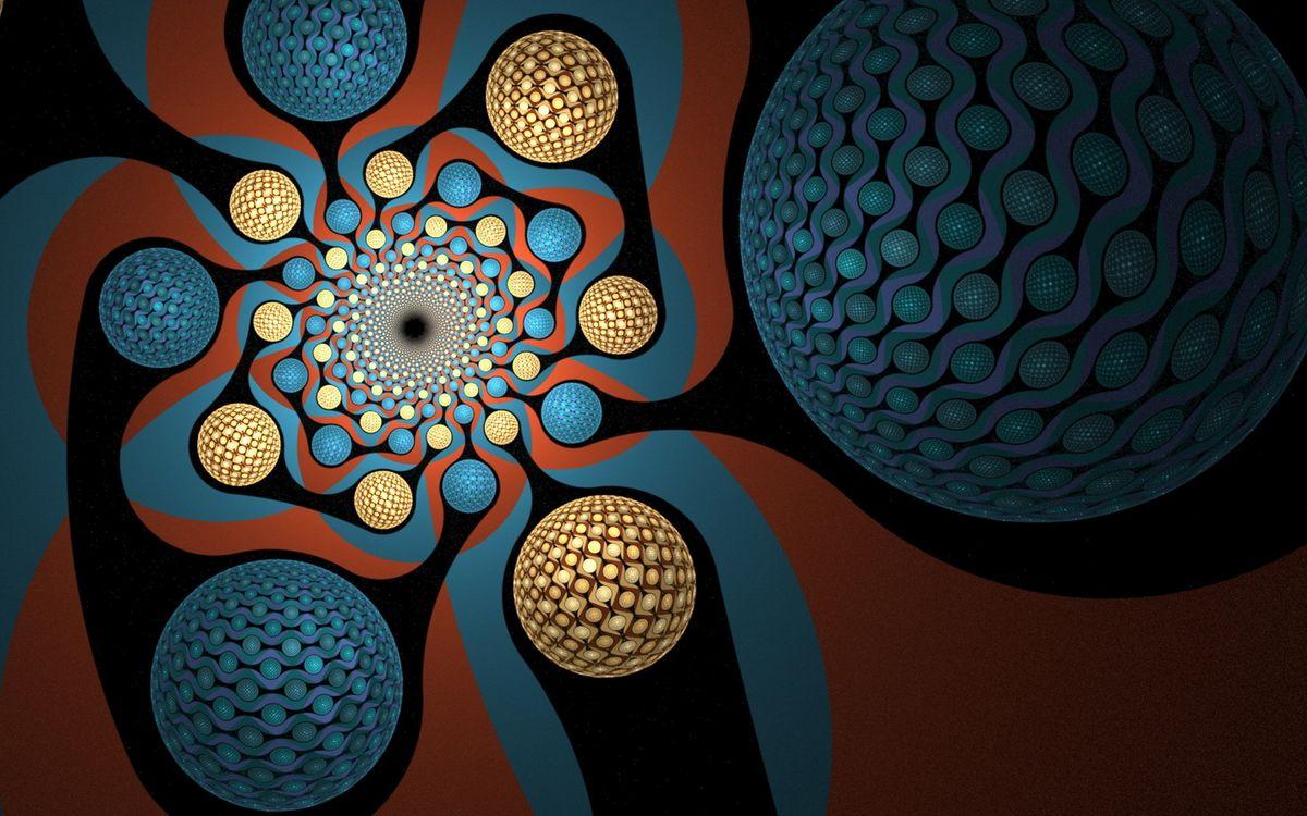 Фото бесплатно рисунок, узоры, цветные, шары, абстракция, абстракции, абстракции