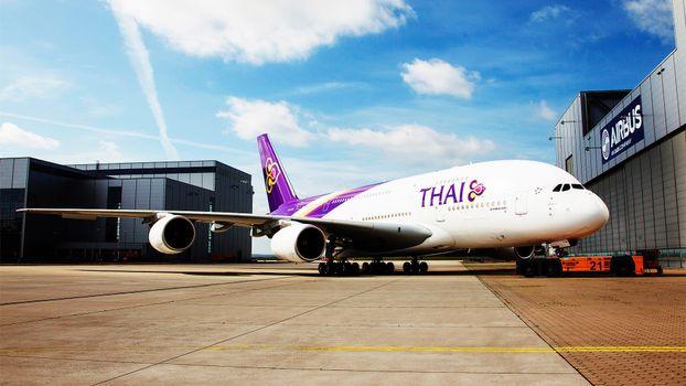 Фото бесплатно самолет, боинг, белый