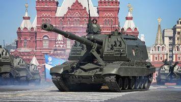 Фото бесплатно парад, 9 мая, танк