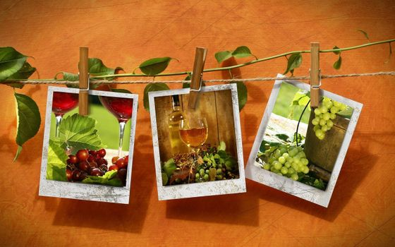 Photo free rope, clothespins, photos