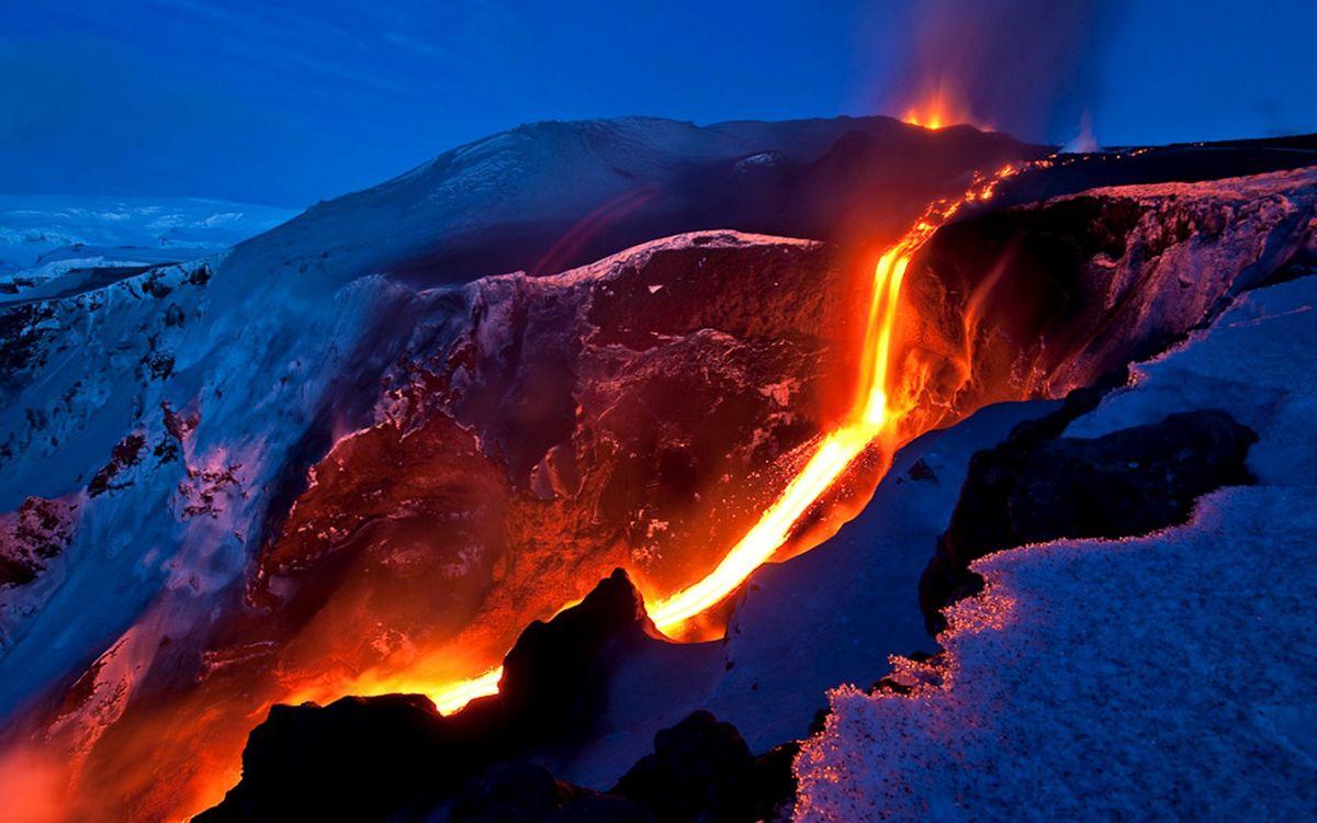 Фото бесплатно вулкан, лава, магма - на рабочий стол