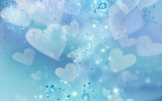 Бесплатные фото голубая,сердца,красиво