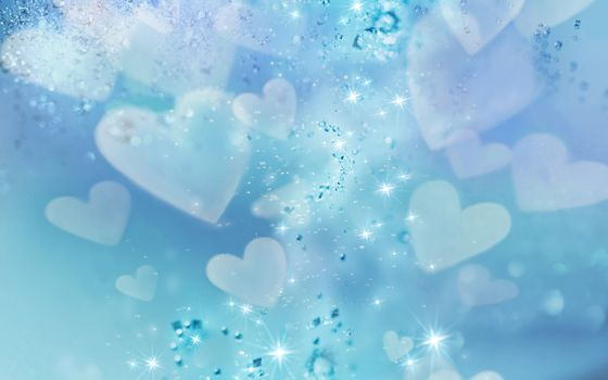 Заставки голубая, сердца, красиво