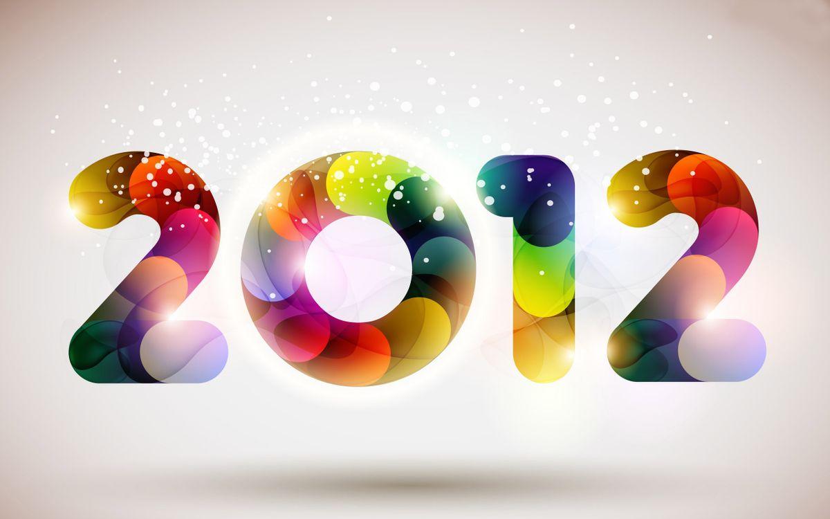 Free photo 2012, new year, beautiful figures - to desktop