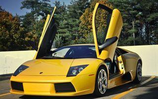 Фото бесплатно lamborghini, желтый, двери