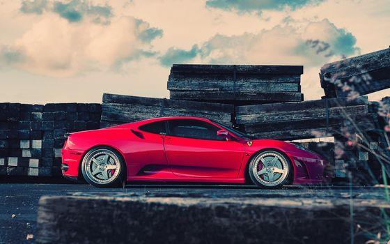 Бесплатные фото автомобиль,розовый,дверки,колеса,диски,шины,асфальт,камни,плиты,машины