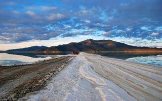 Photo free road, sea, mountains