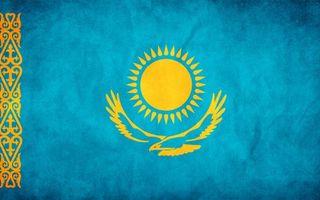 Бесплатные фото флаг,казахстан,голубой,солнце,орел,орнамент,желтый