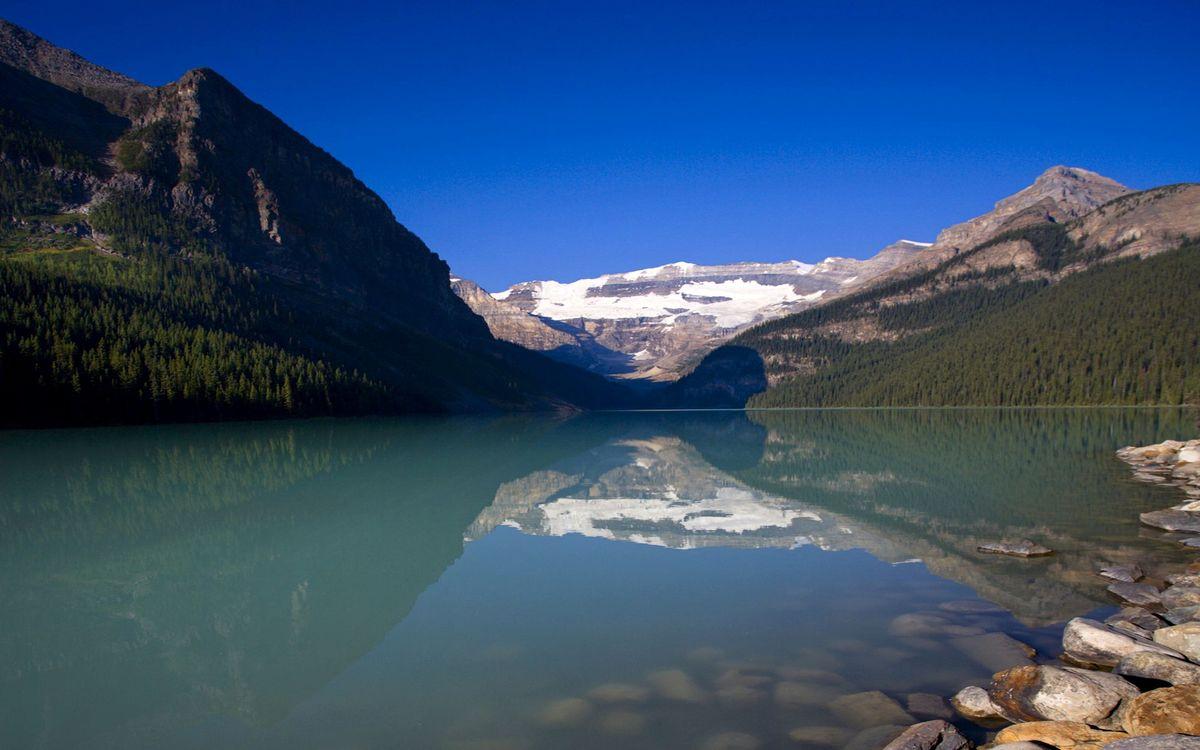 Фото бесплатно горы, камни, река - на рабочий стол