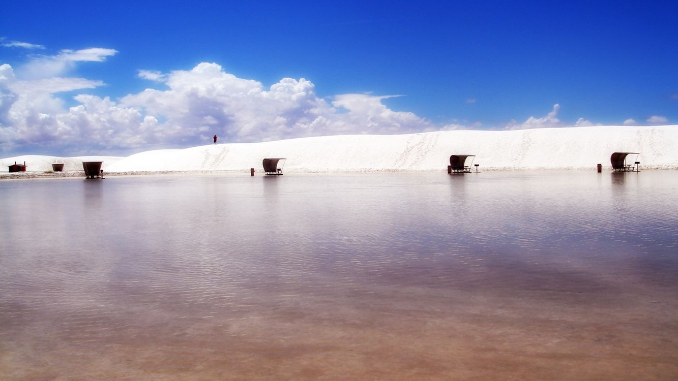 Фото бесплатно море, вода, песок, много, небо, голубое, облака, природа, природа