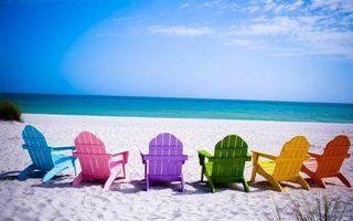 Бесплатные фото море,вода,шезлонг,песок,пляж,трава,небо