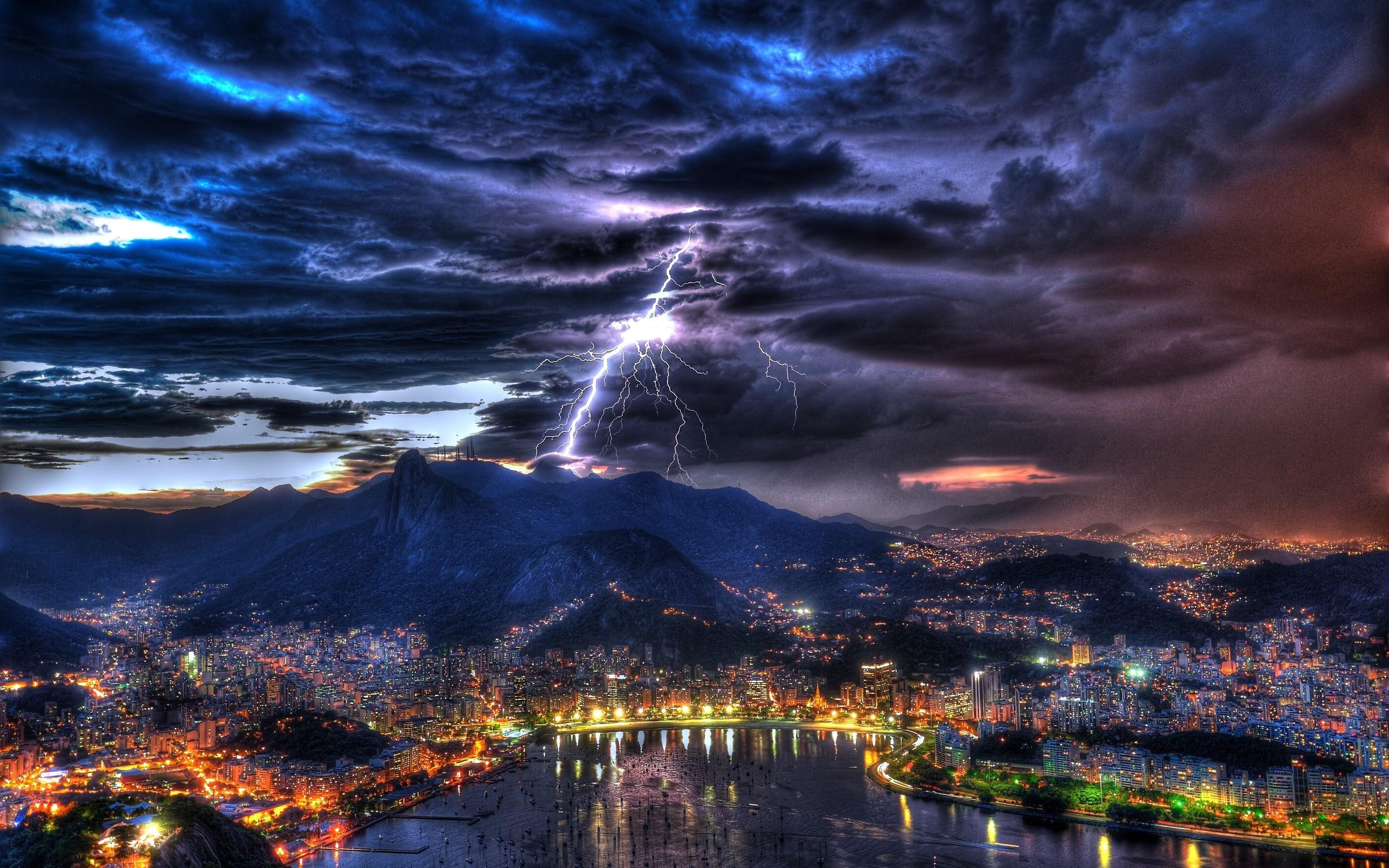огни ночь город берег гора загрузить