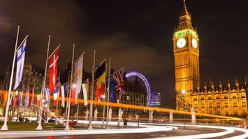 Заставки ночь, лондон, биг бен