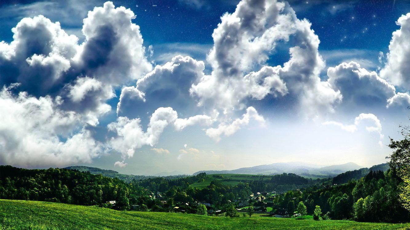 Фото бесплатно рендеринг, пейзаж, небо - на рабочий стол