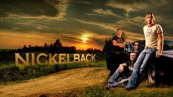 Бесплатные фото парни,nickelback,группа,музыкальная,закат,постер,дорога