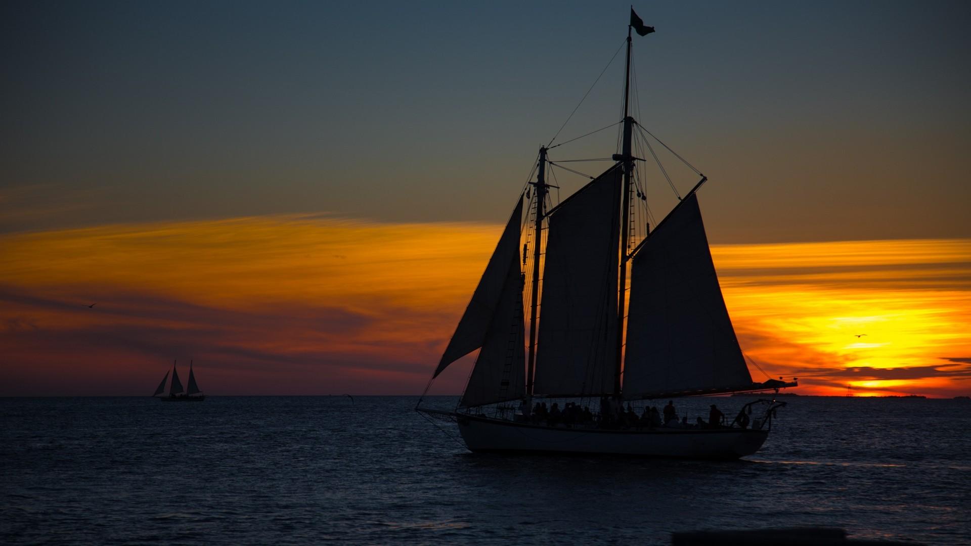 парусник, корабль, паруса