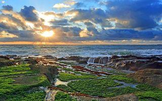 Фото бесплатно пейзаж, море, солнце