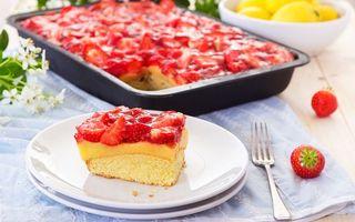 Бесплатные фото пирог,торт,десерт,тарелка,вилка,противень,стол