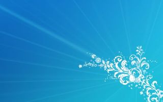 Заставки рисунок,узоры,цветы,трафарет,лучи,фон,голубой