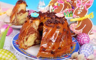 Заставки тарелка, выпечка, торт, яйца, кролик, печенье, еда