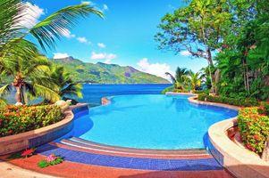 Бесплатные фото тропики, море, бассейн, пейзажи