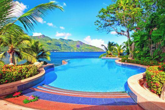 Фото бесплатно море, тропики, бассейн