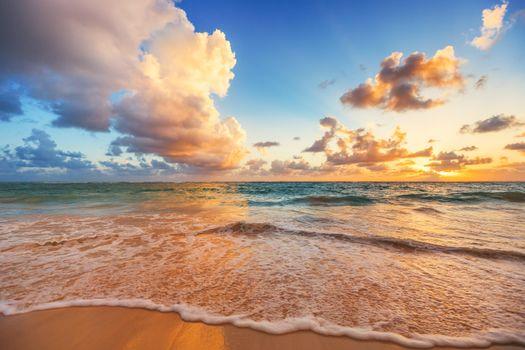 Фото бесплатно волны, вечер, вид с берега