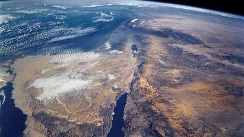 Фото бесплатно земля, вид из космоса, континент, африка, синай, суэцкий канал, аравийский полуостров, космос