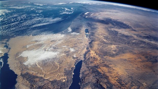 Photo free land, view from space, continent