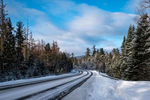 Бесплатные фото зима, дорога, лес, деревья, пейзаж