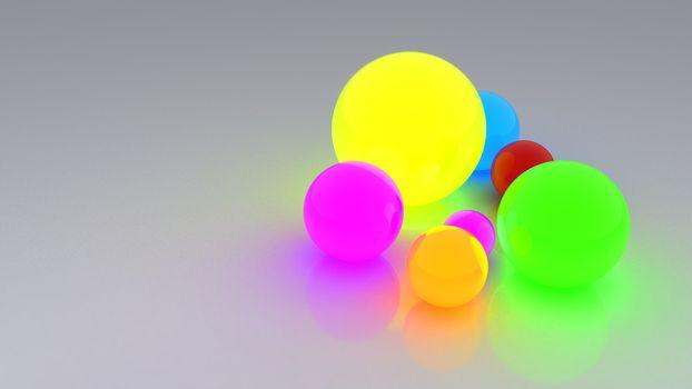 Photo free balls, bright, reflection