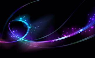 Фото бесплатно линии, разноцветнае, черный фон
