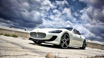 Фото бесплатно maserati, белый, автомобиль