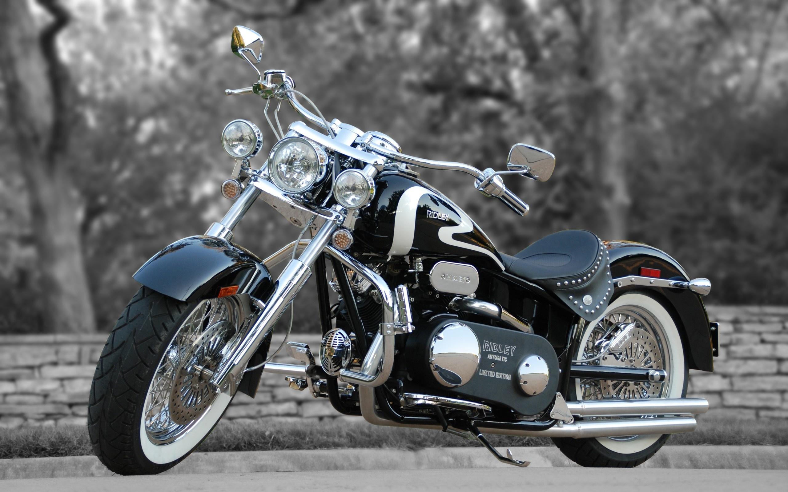 чёрно-серебристый ridley avtomatic limited edition, мотоцикл, байк