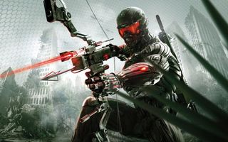 Photo free crysis 3, a prophet with a crossbow in his hands, a nanosuit