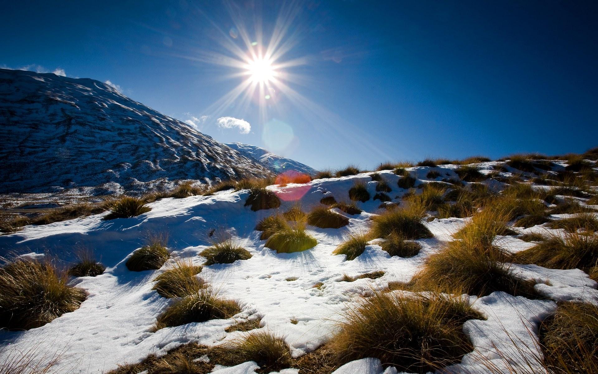 горы, холмы, снег