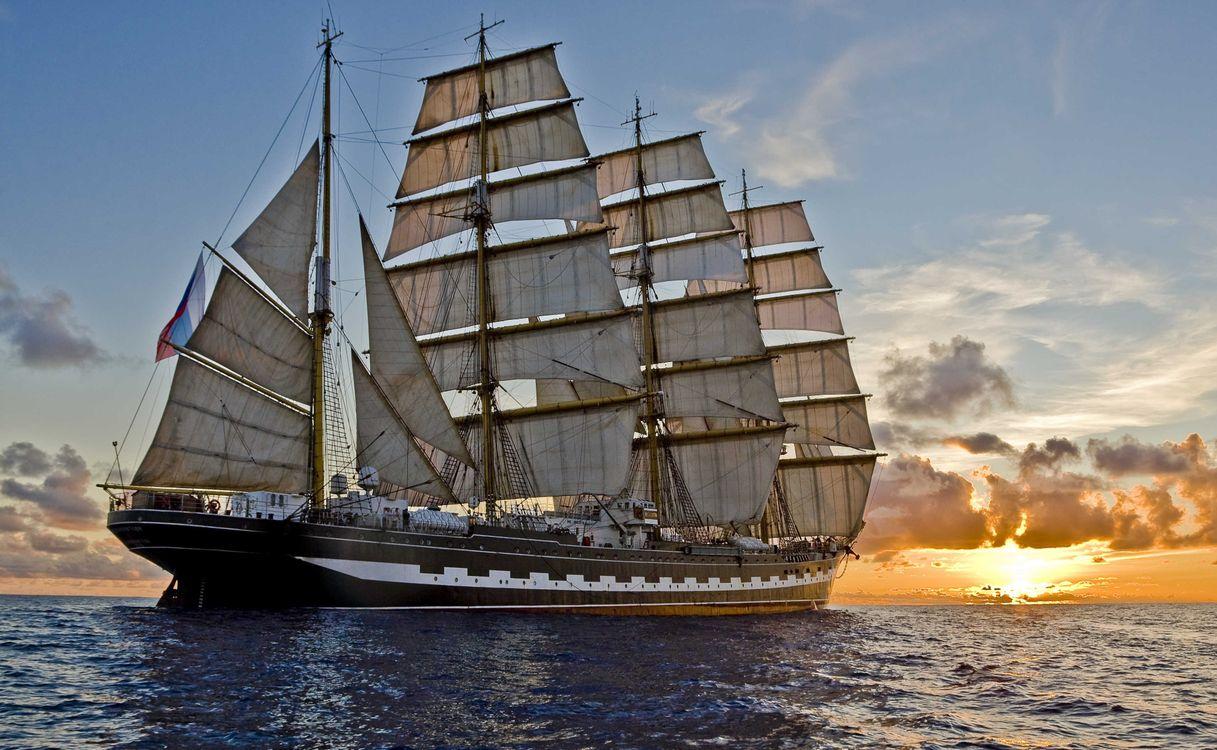 Фото бесплатно корабль, паруса, море - на рабочий стол