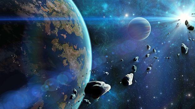 Бесплатные фото космос,планеты,астероиды