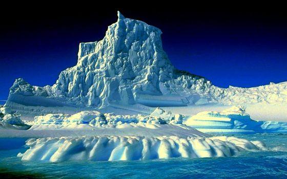 Бесплатные фото ледник,айсберг,снег,океан,небо,синее,природа