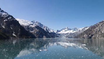 Бесплатные фото озеро,вода,снег,горы,небо,камни,природа