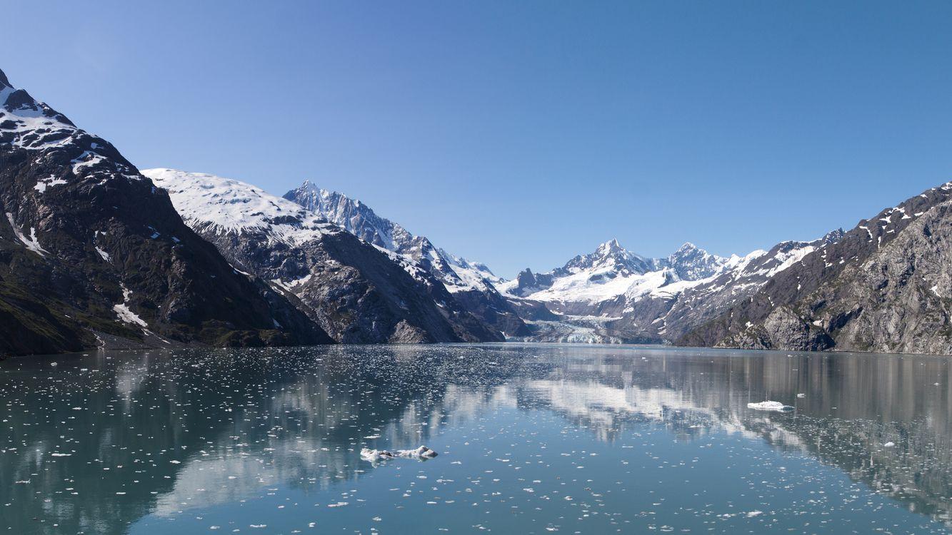 Фото бесплатно озеро, вода, снег, горы, небо, камни, природа, природа