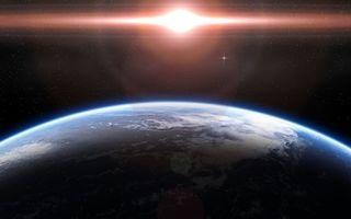 Заставки планета,земля,снимок,солнце,телескоп,космос