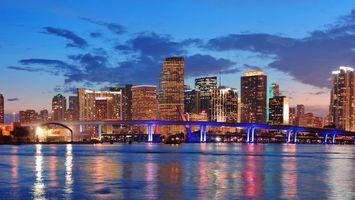 Заставки сша,флорида,мост,город