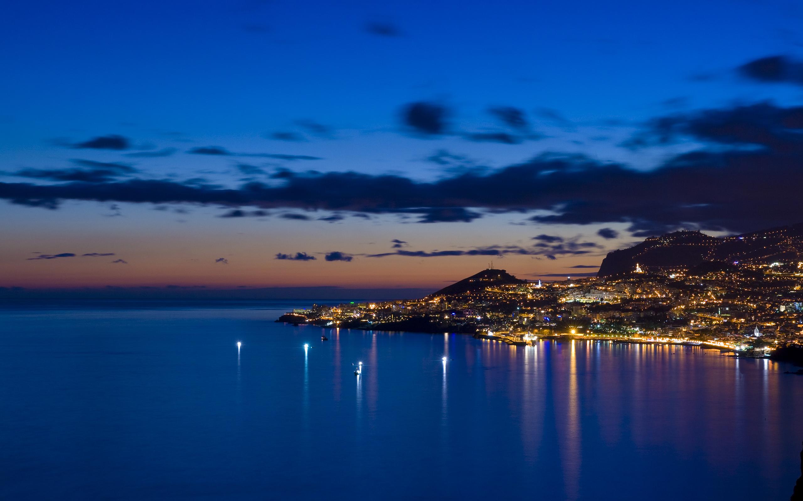 вечер, море, берег