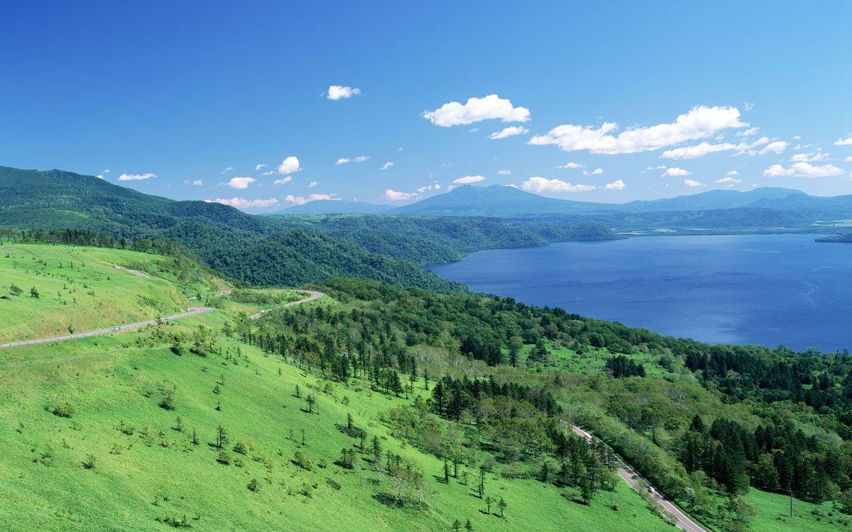 Фото бесплатно вода, река, озеро, горы, деревья, трава, лес, природа, природа