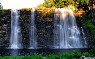 Заставки водопад, вода, река