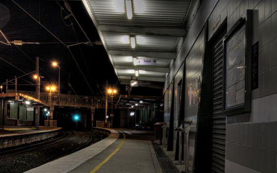 Фото бесплатно вокзал, остановка, электричка