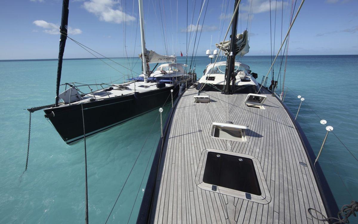 Фото бесплатно яхты, паруса, палуба, море, небо, облака, стиль, стиль