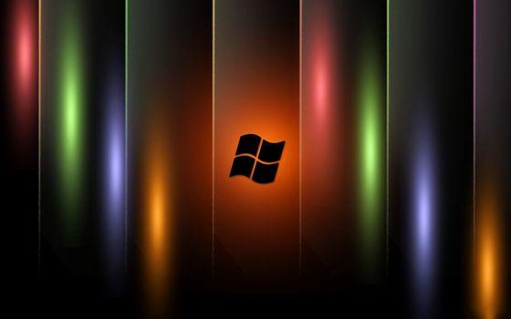 Бесплатные фото заставка,обои,виндовс,логотип,значок,радуга,градиент,линии,блики,абстракции,разное,hi-tech