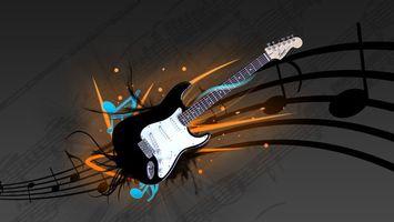 Фото бесплатно гитара, электронная, музыкальная дорожка